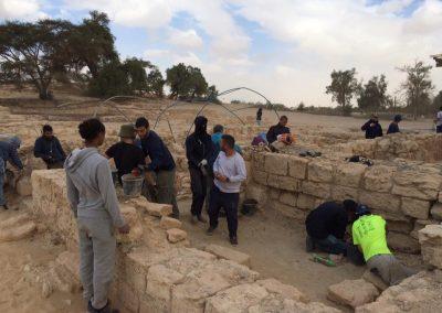 Mechina Shahar (מכינה שחר) Visits Biblical Tamar Park