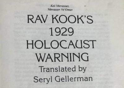 Remembering David Horowitz (42): An Unheeded Holocaust Warning