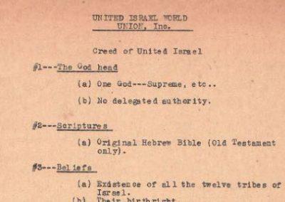 """Charter"" of United Israel World Union"